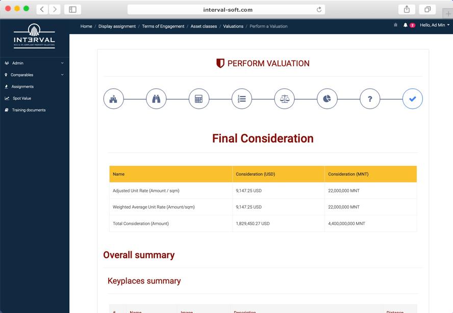 Interval Web Application Screenshot